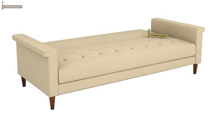 Hover Fabric Sofa Cum Bed (Ivory)-8