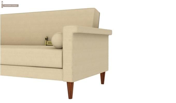 Hover Fabric Sofa Cum Bed (Ivory)-7
