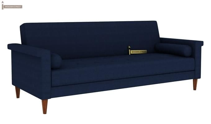 Hover Fabric Sofa Cum Bed (Blue)-4