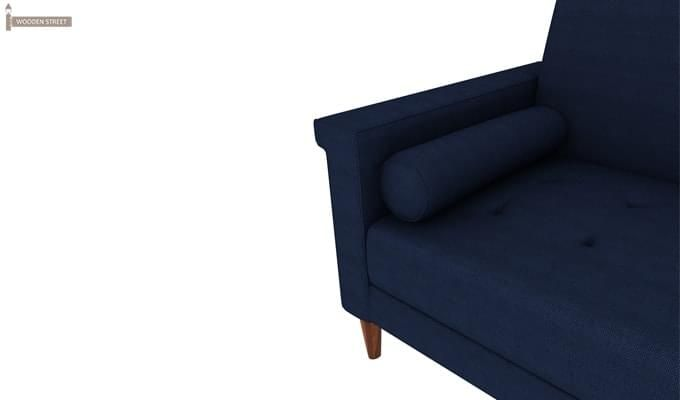 Hover Fabric Sofa Cum Bed (Blue)-8