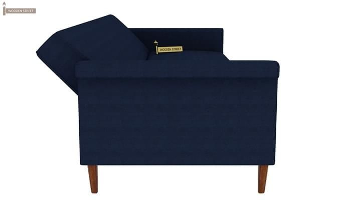 Hover Fabric Sofa Cum Bed (Blue)-11