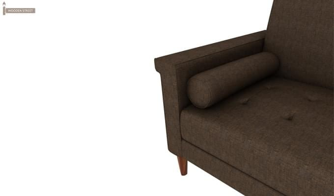 Hover Fabric Sofa Cum Bed (Brown)-6