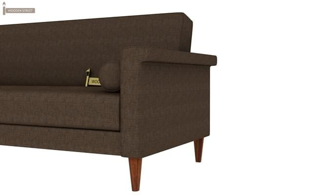 Hover Fabric Sofa Cum Bed (Brown)-5