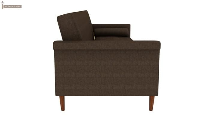 Hover Fabric Sofa Cum Bed (Brown)-7