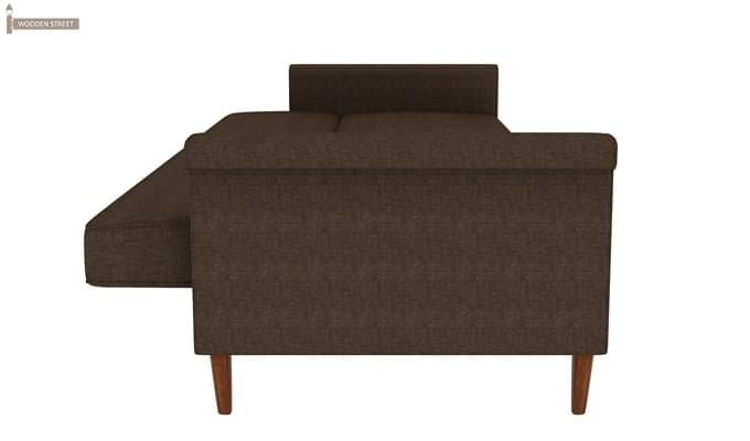 Hover Fabric Sofa Cum Bed (Brown)-8