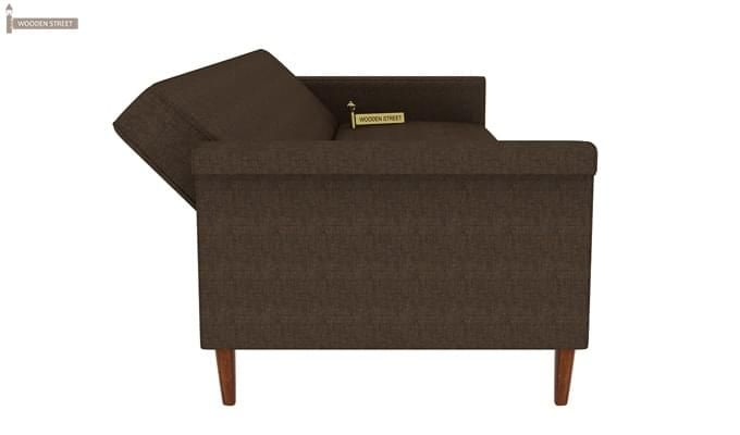 Hover Fabric Sofa Cum Bed (Brown)-9