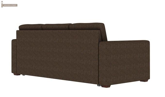 Claridge Fabric Sofa Cum Bed (Classic Brown)-4