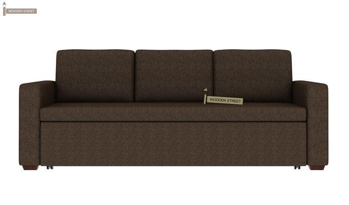 Claridge Fabric Sofa Cum Bed (Classic Brown)-3