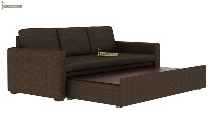 Claridge Fabric Sofa Cum Bed (Classic Brown)-5