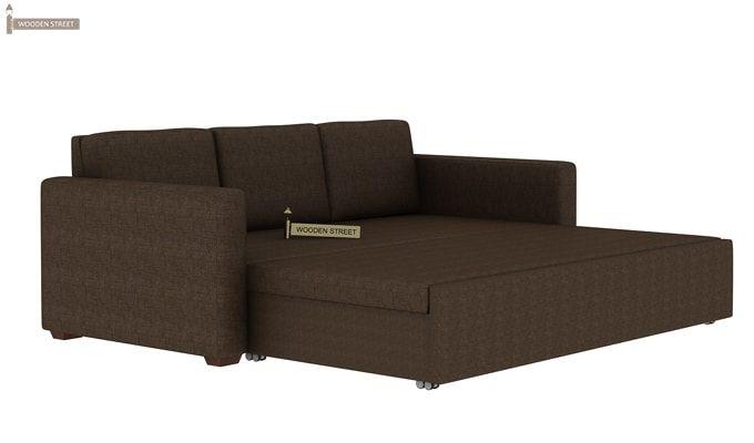 Claridge Fabric Sofa Cum Bed (Classic Brown)-7