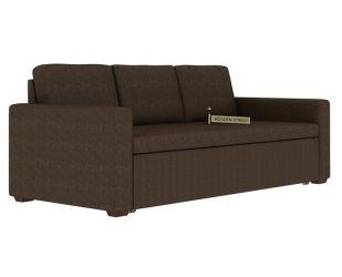 Claridge Fabric Sofa Cum Bed (Classic Brown)