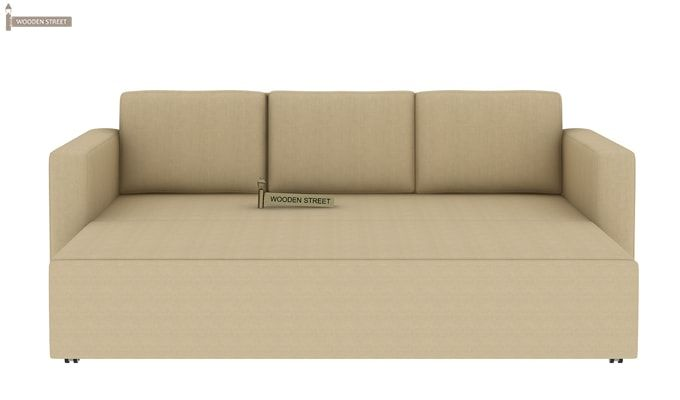 Claridge Fabric Sofa Cum Bed (Ivory)-5