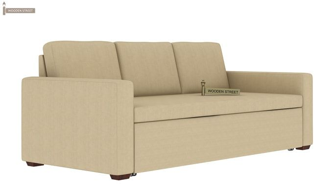 Claridge Fabric Sofa Cum Bed (Ivory)-4