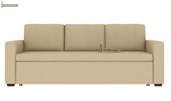 Claridge Fabric Sofa Cum Bed (Ivory)-3
