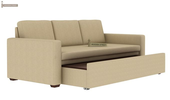 Claridge Fabric Sofa Cum Bed (Ivory)-7