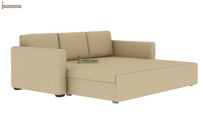 Claridge Fabric Sofa Cum Bed (Ivory)-10