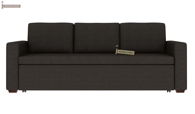 Claridge Fabric Sofa Cum Bed (Steel Grey)-1