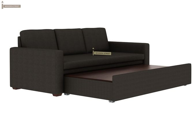Claridge Fabric Sofa Cum Bed (Steel Grey)-5