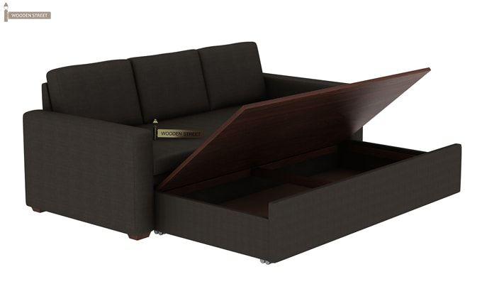 Claridge Fabric Sofa Cum Bed (Steel Grey)-6