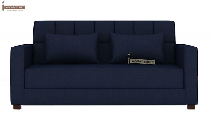 Trish Fabric Sofa Cum Bed (Indigo Ink)-2