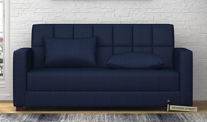 Trish Fabric Sofa Cum Bed (Indigo Ink)-1