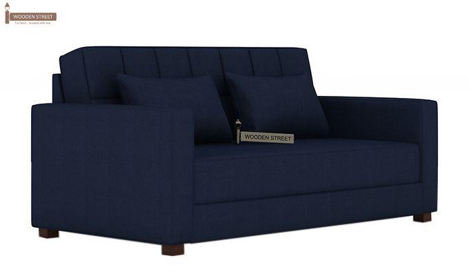 Trish Fabric Sofa Cum Bed (Indigo Ink)-3