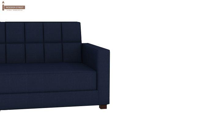 Trish Fabric Sofa Cum Bed (Indigo Ink)-4