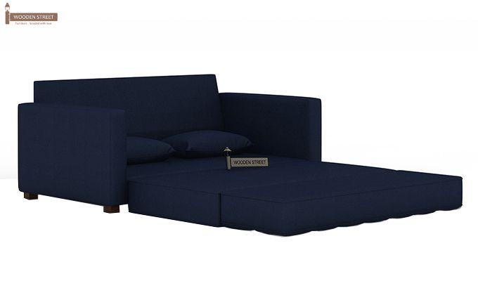 Trish Fabric Sofa Cum Bed (Indigo Ink)-7