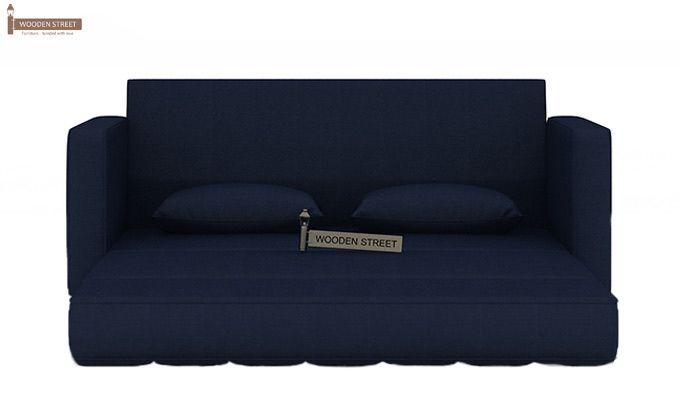 Trish Fabric Sofa Cum Bed (Indigo Ink)-6