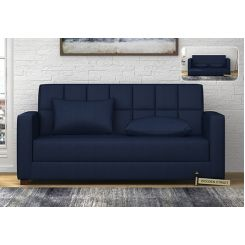 Trish Fabric Sofa Cum Bed (Indigo Ink)