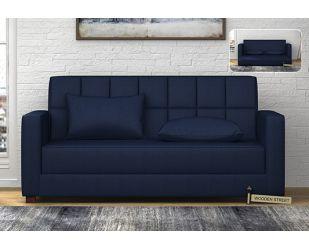Trish Fabric Sofa Cum Bed (Indigo Ink)