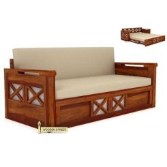Medway Convertible Couch (Honey Finish)