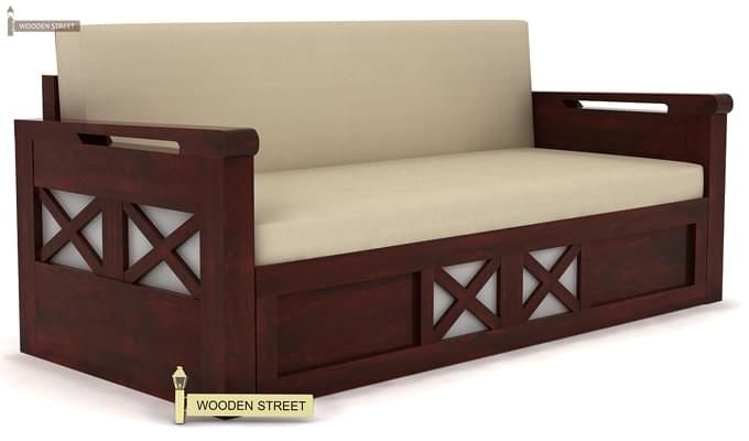 Medway Convertible Couch (Mahogany Finish)-1