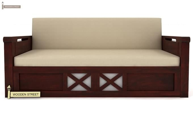 Medway Convertible Couch (Mahogany Finish)-2