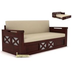 Medway Convertible Couch (King Size, Mahogany Finish)