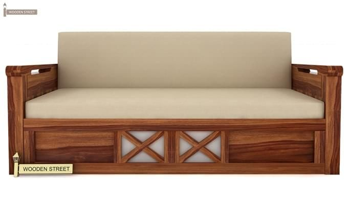 Medway Convertible Couch (King Size, Teak Finish)-2