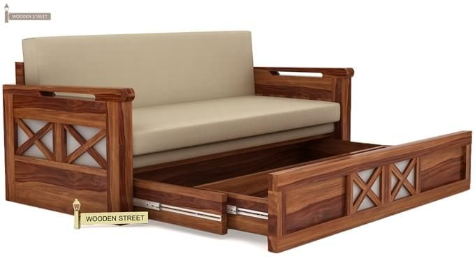 Medway Convertible Couch (King Size, Teak Finish)-4