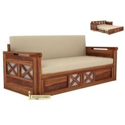 Medway Convertible Couch (Teak Finish)