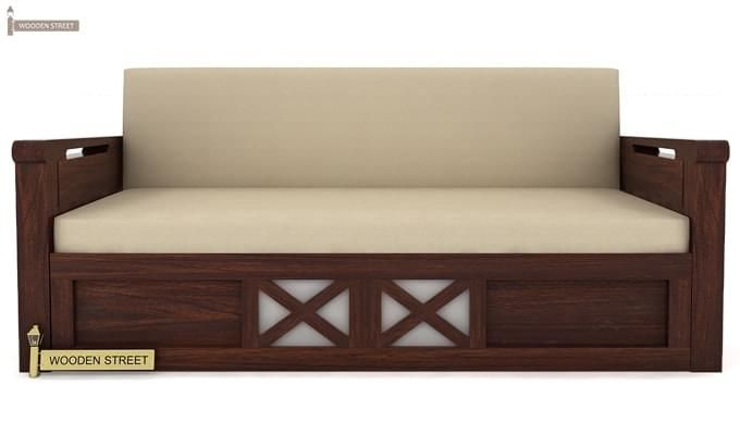 Medway Convertible Couch (King Size, Walnut Finish)-4