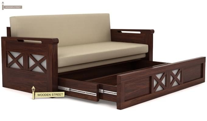 Buy medway convertible couch walnut finish online in india wooden street Home furniture online coimbatore