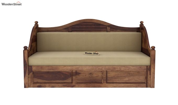 Noah Couch Cum Cot (King Size, Teak Finish)-4