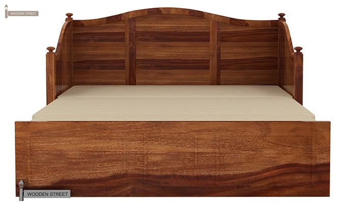 Noah Couch Cum Cot (King Size, Teak Finish)-9