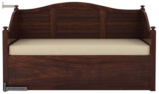 Noah Couch Cum Cot (King Size, Walnut Finish)-3
