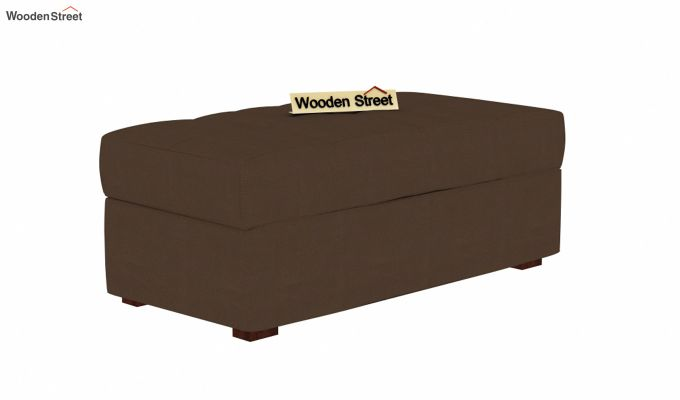 Omega L Shape Fabric Sofa Cum Bed with Ottoman (Classic Brown)-6