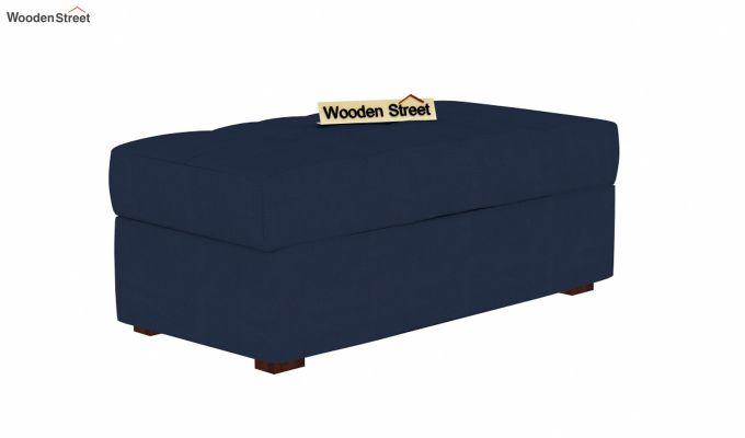 Omega L Shape Fabric Sofa Cum Bed with Ottoman (Indigo Ink)-6