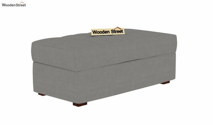 Omega L Shape Fabric Sofa Cum Bed with Ottoman (Warm Grey)-6