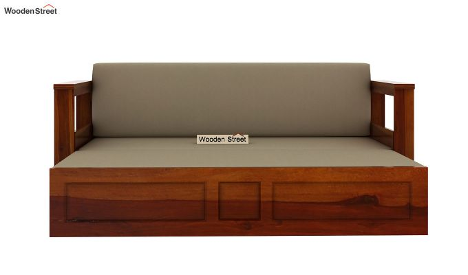 Riota Sofa Cum Bed With Storage (King Size, Honey Finish)-6