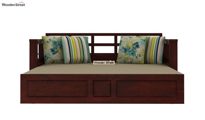 Riota Sofa Cum Bed With Storage (Queen Size, Mahogany Finish)-10