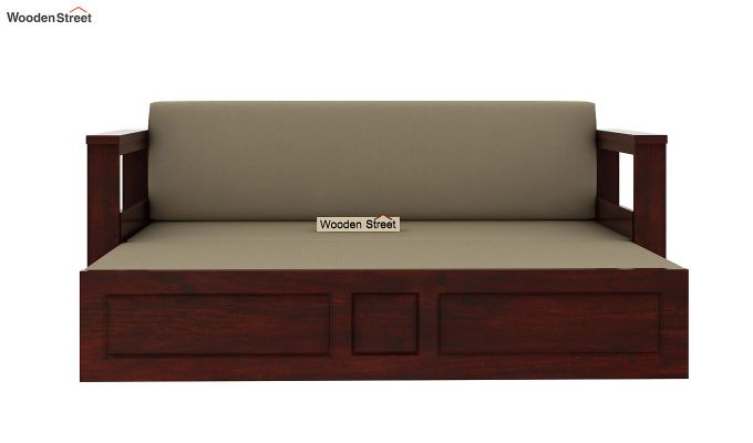 Riota Sofa Cum Bed With Storage (Queen Size, Mahogany Finish)-7