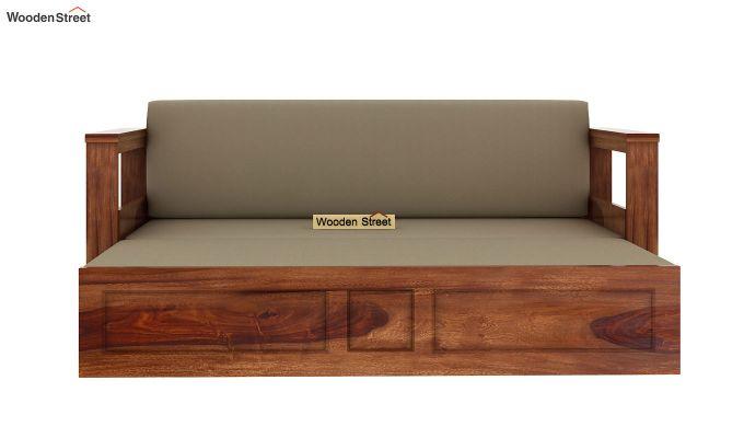 Riota Sofa Cum Bed With Storage (King Size, Teak Finish)-8